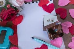 Achtergrond voor liefdenota's Stock Afbeeldingen