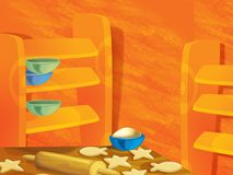 Achtergrond voor miscgebruik - animatie - illustratie - illustratie voor de kinderen Stock Foto