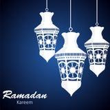 Achtergrond voor Moslim Communautaire Festivalvector Royalty-vrije Stock Foto's