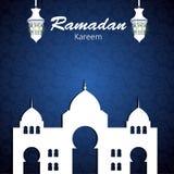 Achtergrond voor Moslim Communautaire Festivalvector Royalty-vrije Stock Fotografie