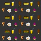 Achtergrond voor snel voedsel Stock Foto
