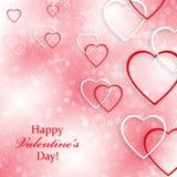 Achtergrond voor Valentijnskaartendag met harten Stock Fotografie