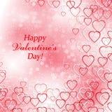 Achtergrond voor Valentijnskaartendag met harten Royalty-vrije Stock Afbeeldingen