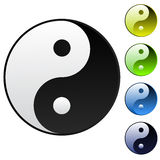 Achtergrond yin-yang symbool Stock Afbeelding