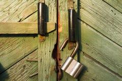 Achtergrondabstractiekasteel op een houten deur Royalty-vrije Stock Foto