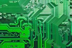 Achtergrondafbeeldingtextuur van Motherboard digitale microchips stock foto's