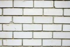 Achtergrondbakstenen muur van witte baksteen Stock Afbeeldingen