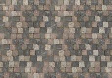 Achtergrondbasis van vierkante gelijk gevouwen stenenkubussen van dark aan licht stock foto
