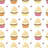 Achtergrondbehang met muffins Vector Stock Fotografie