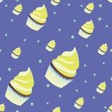 Achtergrondbehang met muffins Vector Royalty-vrije Stock Foto