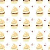 Achtergrondbehang met muffins Vector Royalty-vrije Stock Fotografie