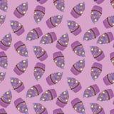 Achtergrondbehang met muffins Vector Royalty-vrije Stock Afbeeldingen