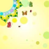 Achtergrondbloemen en vlinders Royalty-vrije Stock Foto