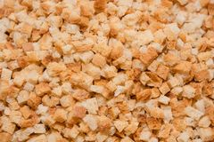 Achtergrondcrackers De textuur van droog brood De beschuiten sluiten omhoog stock foto