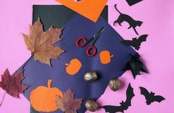 Achtergronddecoratie Halloween Royalty-vrije Stock Afbeelding
