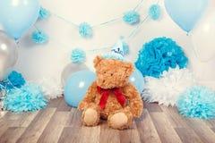 Achtergronddecoratie voor de viering van de het eerste jaarverjaardag Royalty-vrije Stock Foto's