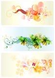 Achtergronden gevormde reeks Stock Fotografie