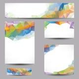 Achtergronden met abstracte driehoeken Stock Foto