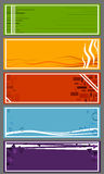 Achtergronden voor banners in reeks Royalty-vrije Stock Foto
