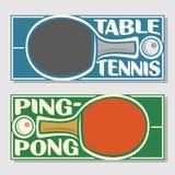Achtergronden voor tekst voor wat betreft pingpong Royalty-vrije Stock Afbeeldingen