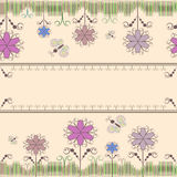 Achtergrondflowers&butterfly vector illustratie