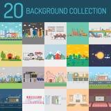 20 achtergrondinzameling stock illustratie
