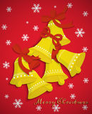 Achtergrondklok vrolijke Kerstmis Stock Afbeelding