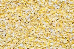Achtergrondmening van smakelijke knapperige cornflakes royalty-vrije stock foto's
