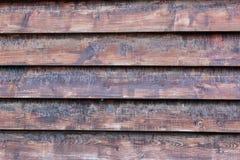 Achtergrondmuur van oude houten planken Stock Afbeelding