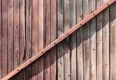 Achtergrondmuur van oude houten planken stock foto's