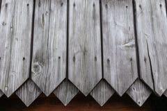 Achtergrondmuur van oude houten planken Stock Afbeeldingen