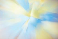 Achtergrondonduidelijk beeld geel blauw Royalty-vrije Stock Fotografie