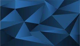 Achtergrondontwerp met blauwe driehoeksvormen stock illustratie