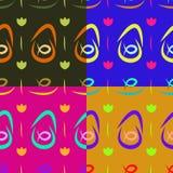 Achtergrondpatronen met visschotels Royalty-vrije Stock Afbeelding