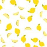 Achtergrondpatroon van gele citroen van de de zomer de gezonde citrusvrucht Royalty-vrije Stock Afbeelding