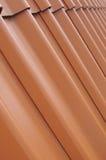 Achtergrondperspectief van rood dak Royalty-vrije Stock Foto