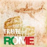 Achtergrondreis naar Rome Vector illustratie Stock Illustratie