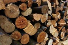 Achtergrondstapel van hout Royalty-vrije Stock Foto's