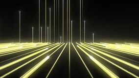 Achtergrondtechnologie Gele Lijn Up_1920_25f_13sec_Alpha M stock footage
