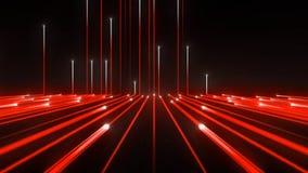 Achtergrondtechnologie Rode Lijn Up_1920_25f_13sec_Alpha M stock videobeelden