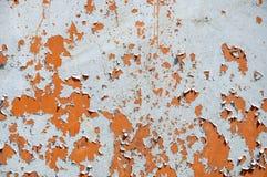 Achtergrondtexturen van roestig ijzer Corrosiemetaal Oude barsten en krassen royalty-vrije stock foto