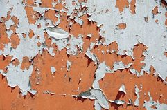Achtergrondtexturen van roestig ijzer Corrosiemetaal Oude barsten en krassen stock foto's
