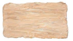 Achtergrondtextuur of kader abstracte kunst van de handambacht van de vormklei Royalty-vrije Stock Foto's