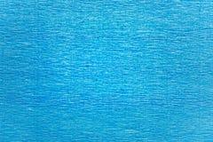 Achtergrondtextuur van blauw gerimpeld golfdocument Royalty-vrije Stock Foto