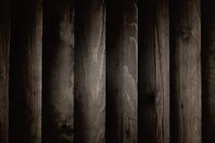 Achtergrondtextuur van de muren, donkere houten planken Stock Foto's