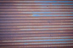 Achtergrondtextuur van de muur van oud zinkblad, wi van het metaalblad Stock Fotografie