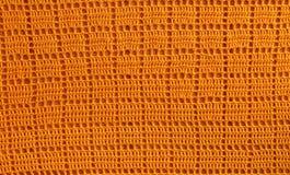 Achtergrondtextuur van gebreide oranje vierkanten voor de Desktop, Si stock foto's