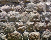 Achtergrondtextuur van Herodian-Erametselwerk, Oude Stad van Jerusa Stock Foto