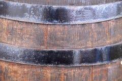Achtergrondtextuur van het oude houten vat voor wijn royalty-vrije stock fotografie