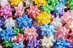 Achtergrondtextuur van kleurrijke lintbogen Royalty-vrije Stock Foto